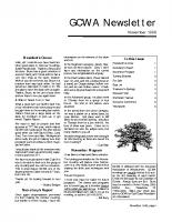 1998 11 November Newsletter