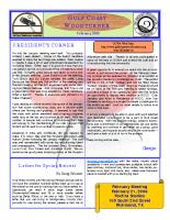 2009-02 February Newsletter