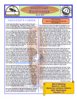 2009-03 March Newsletter