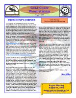 2009-08 August Newsletter