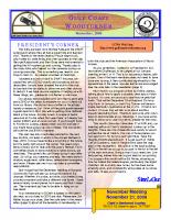 2009-11 November Newsletter