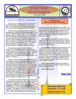 2009-12 December Newsletter