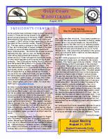 2010-08 August Newsletter