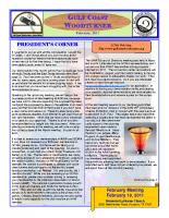 2011-02 February Newsletter