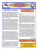 2011-05 May Newsletter