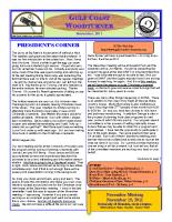 2011-11 November Newsletter