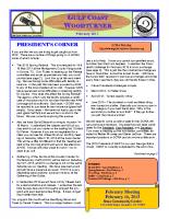 2013-02 February Newsletter
