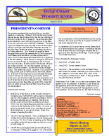 2013-03 March Newsletter