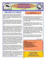 2013-08 August Newsletter
