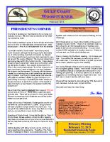 2015-02 February Newsletter