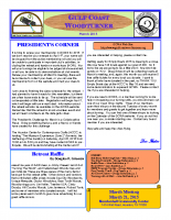 2015-03 March Newsletter