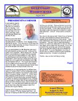 2015-08 August Newsletter