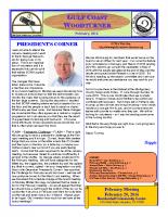 2016-02 February Newsletter