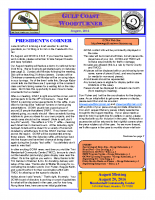 2016-08 August Newsletter
