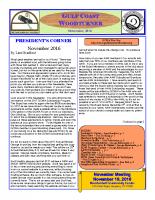 2016-11 November Newsletter