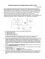 Reversing Switch for Variable Speed Jet Mini Lathe