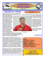 2017-08 August Newsletter