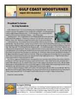 2018-08 August Newsletter